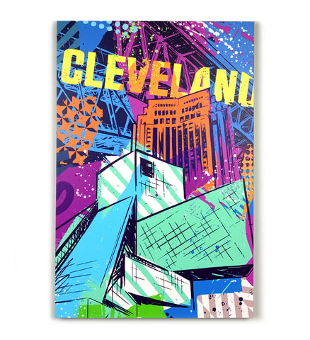 Vibrant Cleveland Rock Bridges Canvas Print