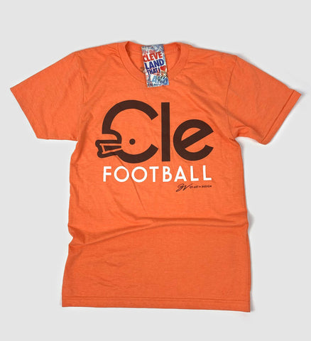 CLE Football Type T shirt