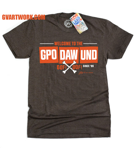Welcome To The GPODAWUND Since '99 Cleveland Football T shirt