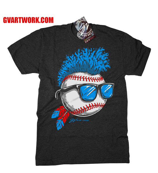 Blue Wild Hair Edition Cleveland Baseball T shirt