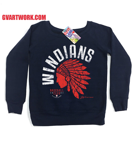 Womens Slouchy Sweatshirt Cleveland Windians Postseason Edition