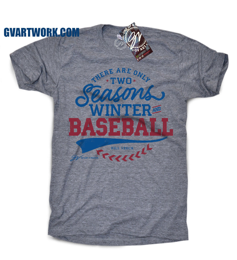 Design t shirt baseball - There Are Only Two Seasons Winter And Baseball T Shirt