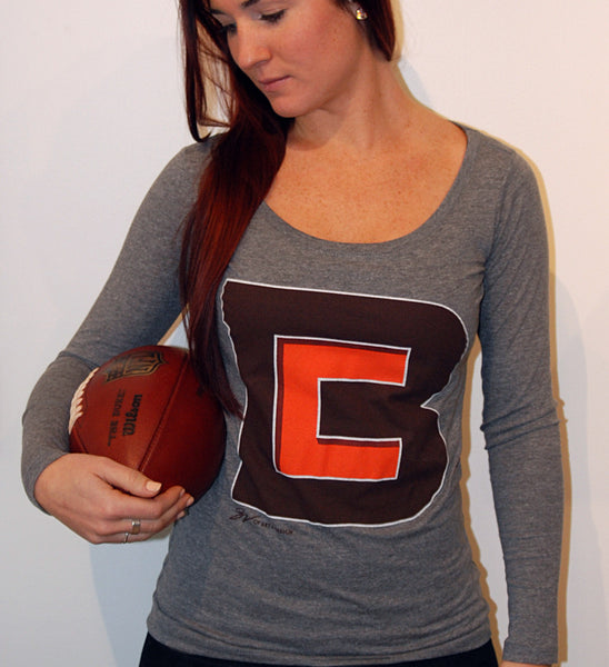 Womens Long sleeve Cleveland CB Logo Shirt