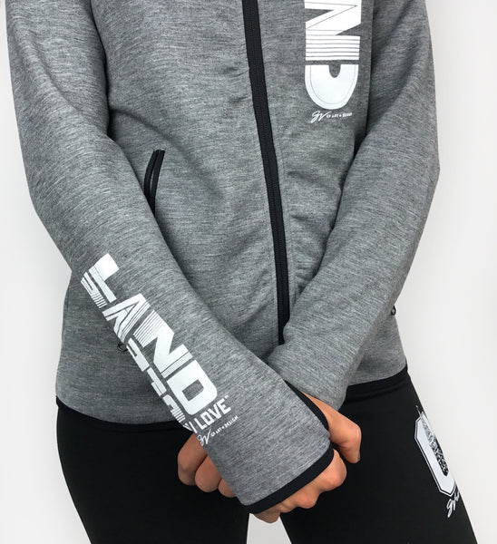 Women's Grey Cleveland Full-Zip Sweatshirt