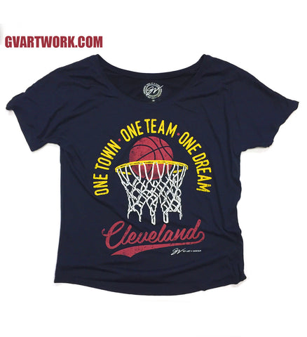 Womens One Town, One Team, One Dream - Playoff Shirt