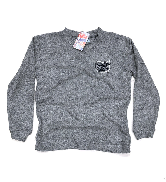 Womens Cleveland That I Love Cozy Crew Sweater