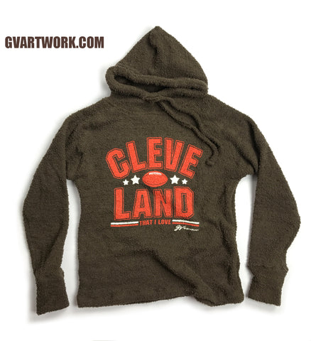 Women's Cozy Pullover Cleveland Football Fleece