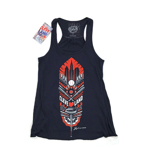 Womens Cleveland Feather Flowy Tank Top