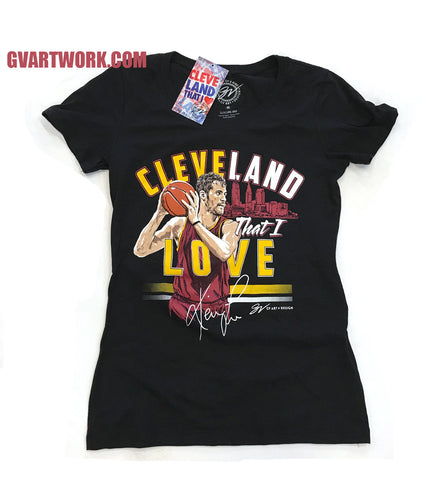 Women's Black Official Kevin Love Cleveland That I Love shirt