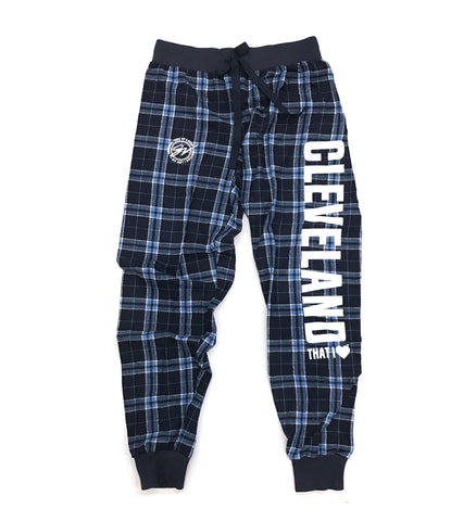 Womens Cleveland That I Love Flannel Joggers