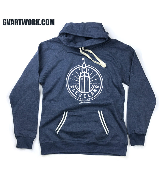 Women's Navy Terminal Tower Pullover Fleece