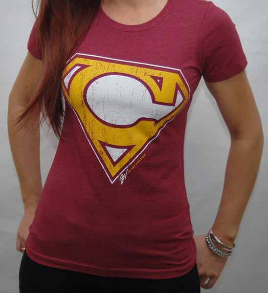 Women's Cleveland-Superman Wine and Gold Edition