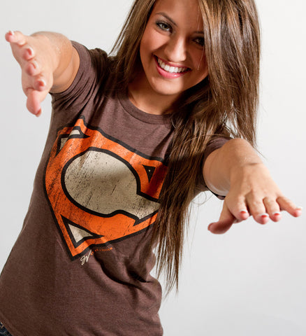 Women's Superman Cleveland Orange and Brown Edition