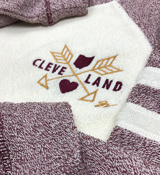 Womens Cleveland Two Tone Cozy Pocket Sweater