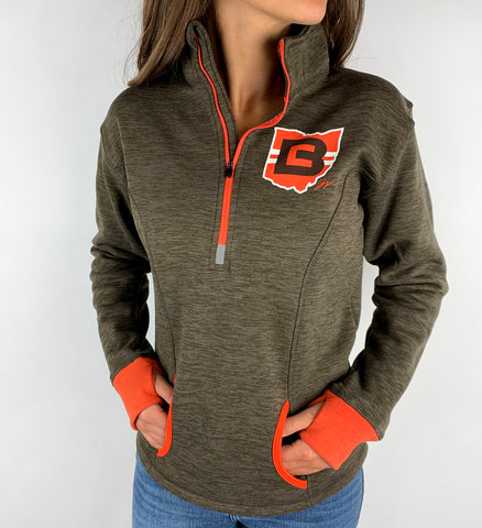 Womens CB Ohio Quarter Zip Pullover