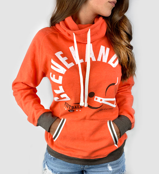 Women's Orange Bold Type Helmet Pullover
