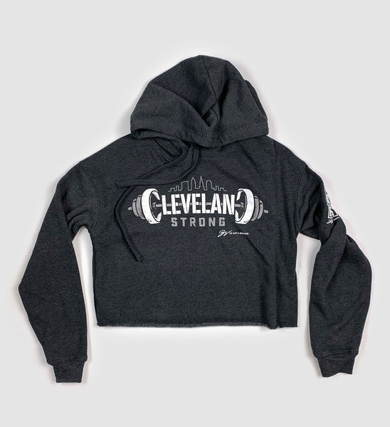 Women's Cleveland Strong Cropped Hooded Sweatshirt