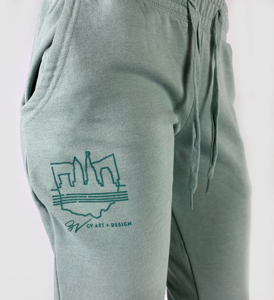 Women's Cleveland Script Mint Sweatpants