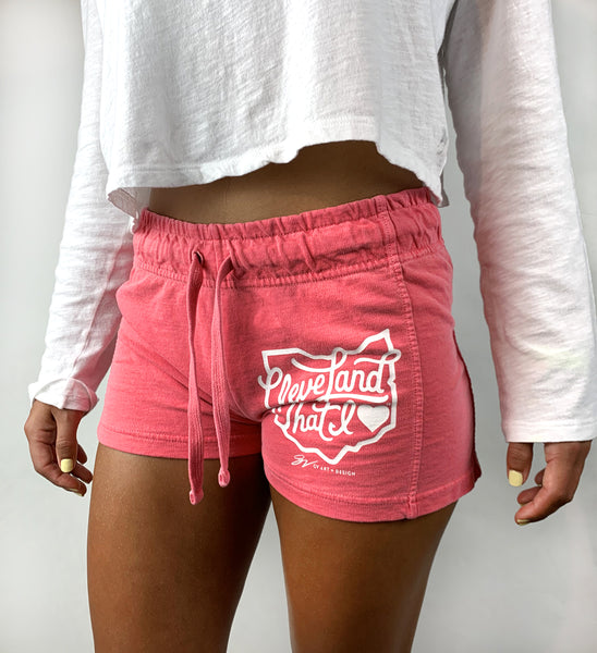 Womens Cleveland That I Love Watermelon Shorts