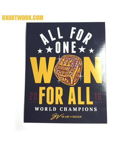 All For One WON For ALL Championship Sticker