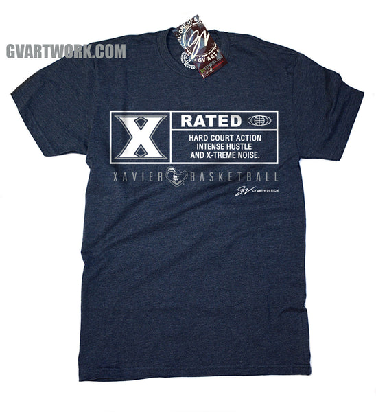 X Rated Xavier Basketball T shirt