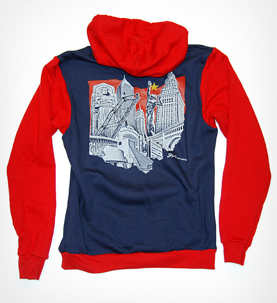 Cleveland Ohio Landmarks Design Zip Up