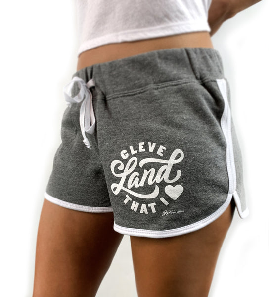 Womens Cleveland That I Love Grey Shorts
