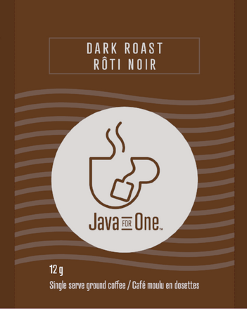 Java For One. Java For One. Single serve coffee bags as easy to make as tea.