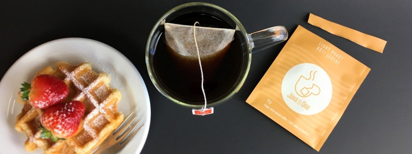 Single-serve gourmet coffee bags. No pods or machines required.
