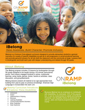 iBelong - A disability awareness curriculum for grade school students