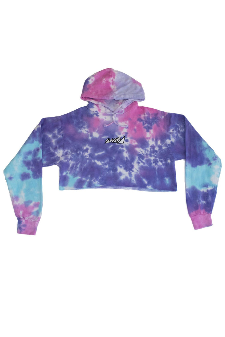 COTTON CANDY CROP TOP HOODIE