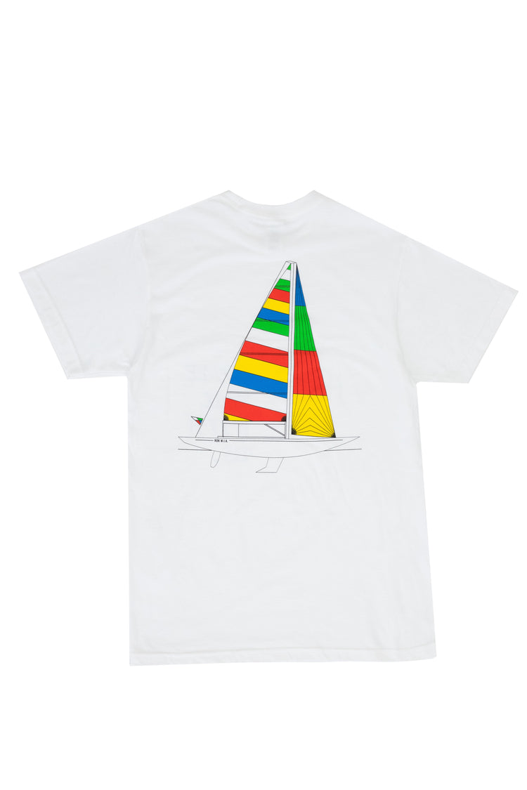 """COME SAIL WITH US"" WHITE T-SHIRT"