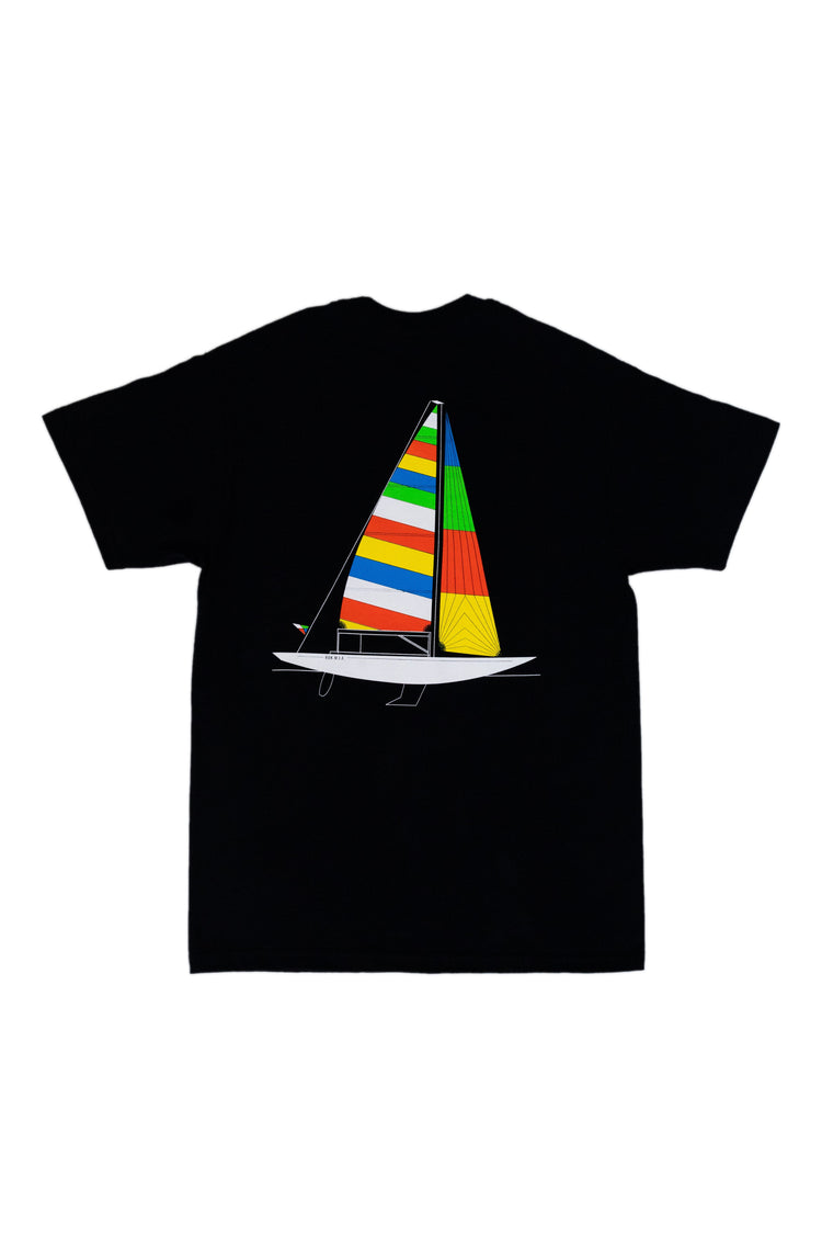 """COME SAIL WITH US"" BLACK T-SHIRT"