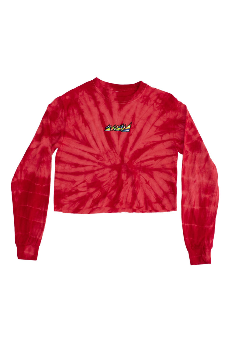 SPIDER RED CROP TOP L/S SHIRT