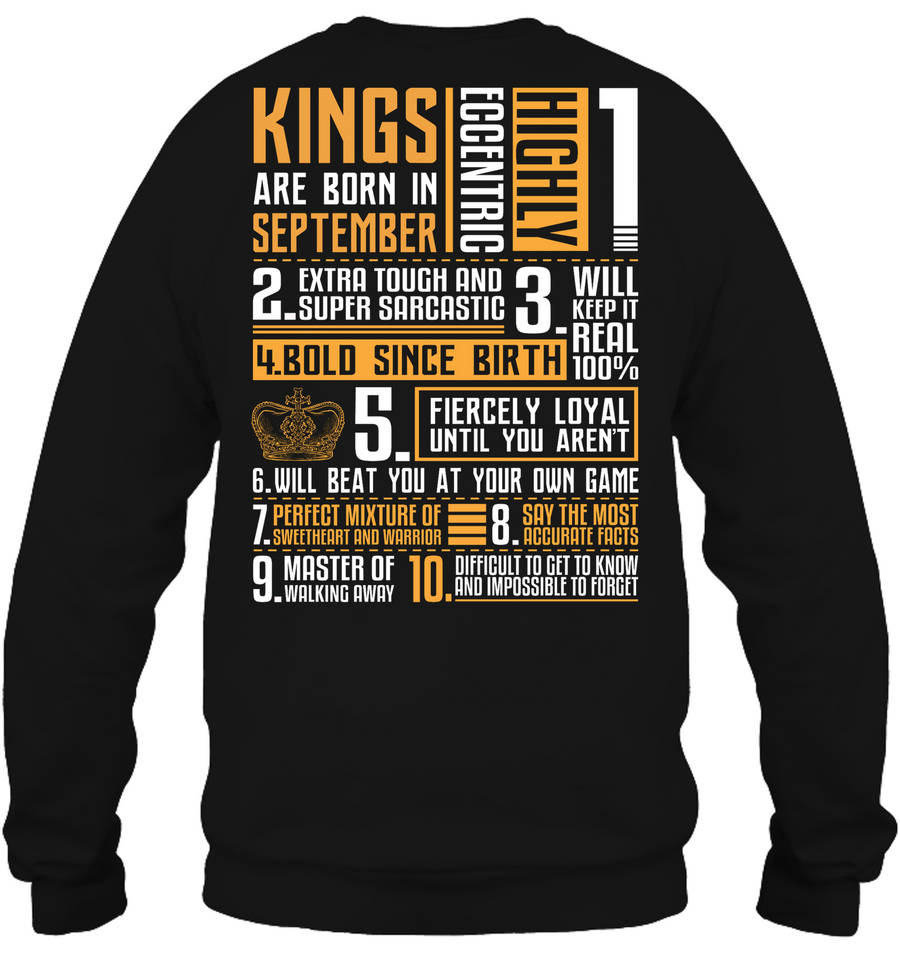 0047cd87e Kings Are Born in September T Shirt, Sweatshirt, Hoodie