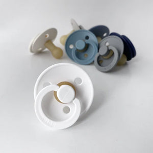 Bibs Pacifiers 2 Pack - White