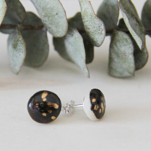 Hand Made Black and Gold Earrings