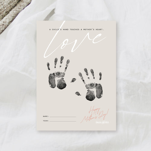 Mother's Day Craft - Baby's Handprints