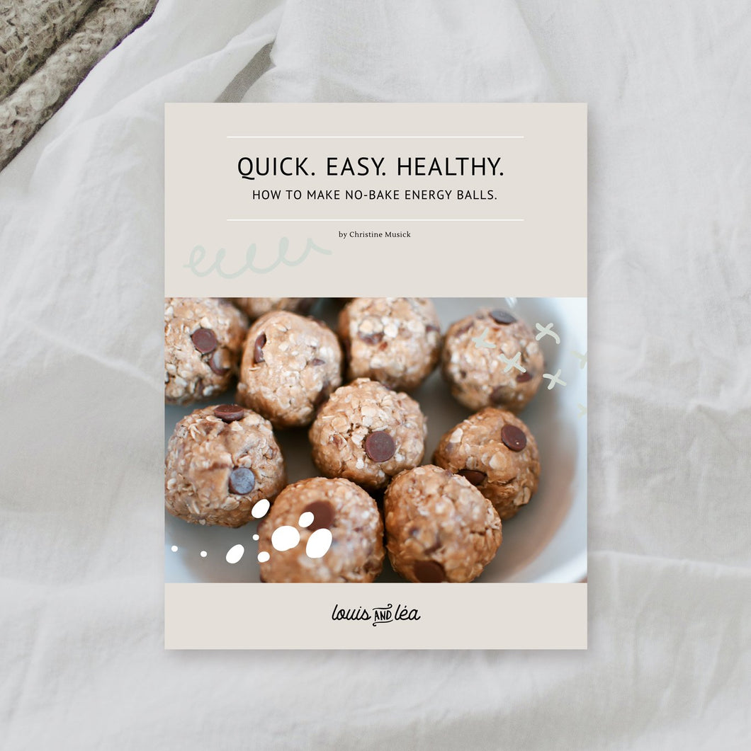Quick. Easy. Healthy. How to make no-bake energy balls.