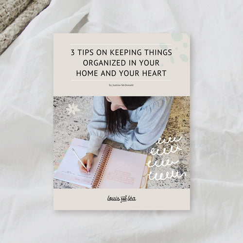 3 tips on keeping things organized in your home and your heart.