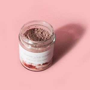 rose clay face mask