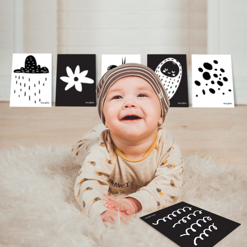10 High Contrast Sensory Cards
