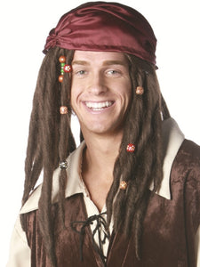 "JACK SPARROW - ""PIRATES OF THE CARRIBEAN"" DELUXE WIG"