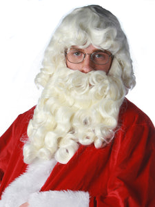 SANTA CLAUS WIG & BEARD PREMIUM SET
