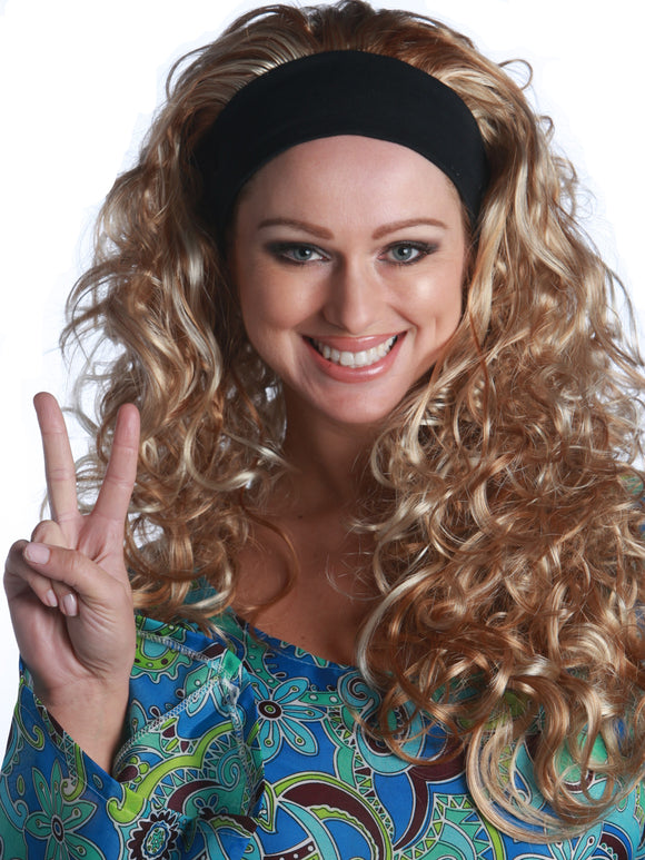 60'S HIPPIE GIRL CURLY PREMIUM WIG - 3 COLORS