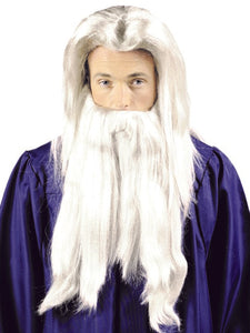 WIZARD WIG & BEARD DELUXE SET