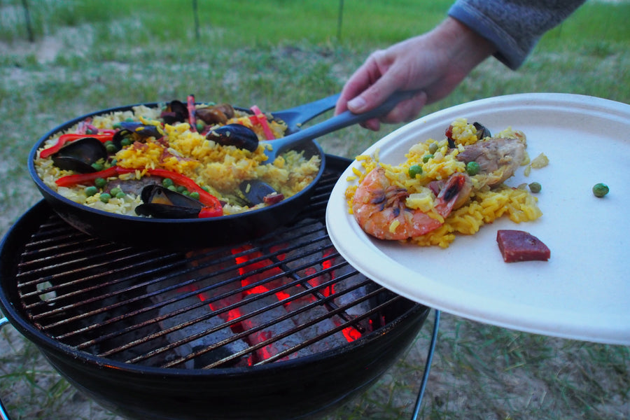Skillet Paella in the Park