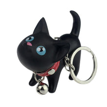 Load image into Gallery viewer, Shaking Head Kitten Keychain