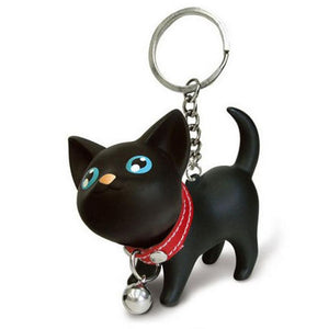 Shaking Head Kitten Keychain