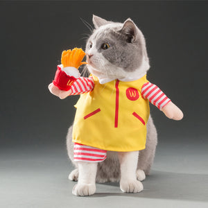 Snackbar Waiter Costume For Cats